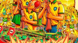 Pôster da turnê Rasgacabeza, Francisco El Hombre. Arte: Cristiano Suarez