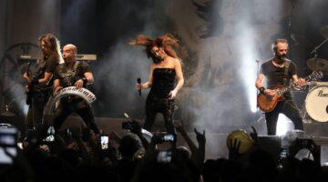 Epica se apresenta no Circo Voador, no ano de 2019